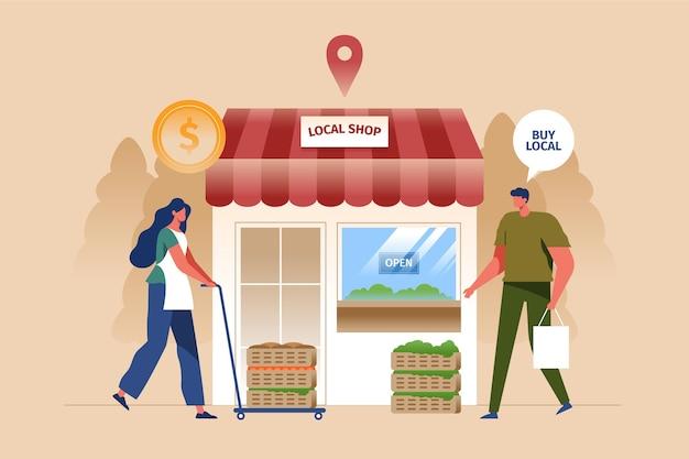 Apoiar e ajudar as empresas locais