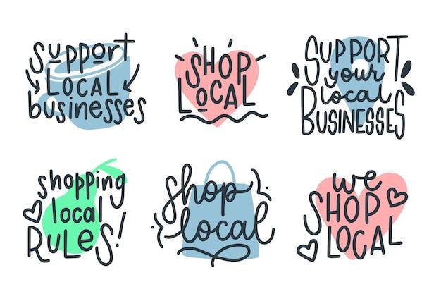Apoie a coleção de letras de empresas locais