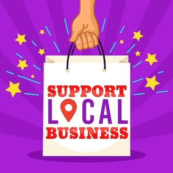 Apoie negócios locais
