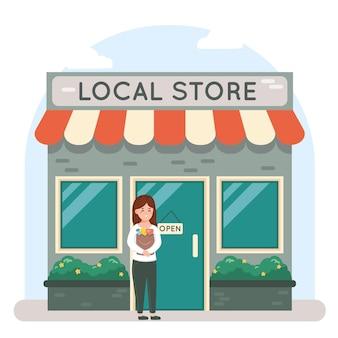 Apoie o conceito de negócio local