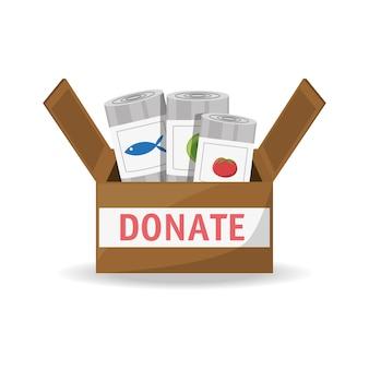 Apoio de doação de alimentos para a caridade do povo