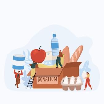 Apoio social, assistência social, voluntariado e conceito de caridade.