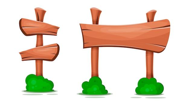 Apontando sinais, ponteiros, ponteiros de madeira