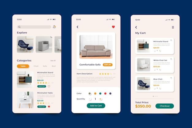 App de compras de móveis