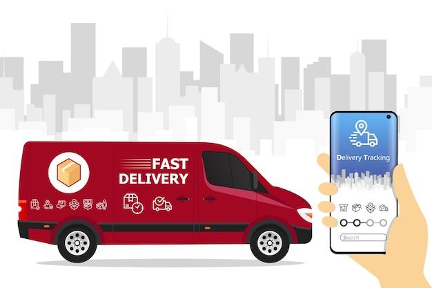 App de serviço de entrega rápida