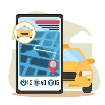 App de transporte de serviço de táxi