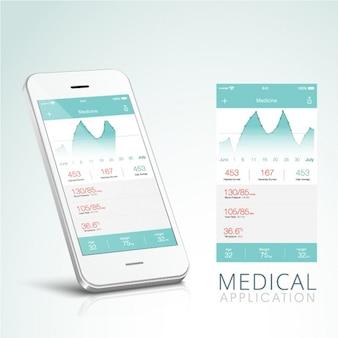 App médica com interface de azul