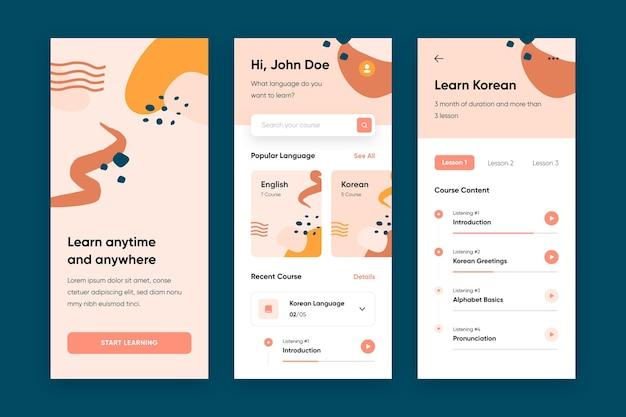 App para aprender coleção de idiomas