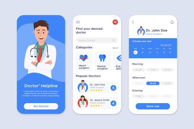 Appconcept de reserva médica