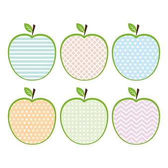 Apple com um ornamento.