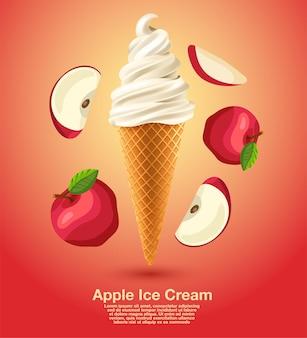 Apple sundae soft serve