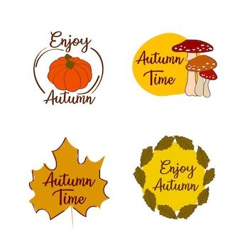 Aprecie os rótulos de outono