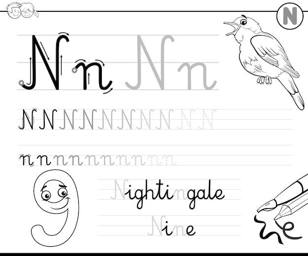 Aprenda a escrever a letra n
