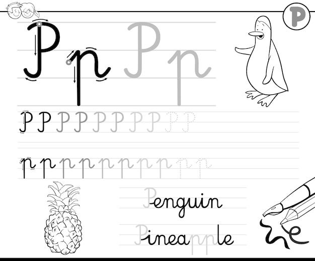 Aprenda a escrever a letra p