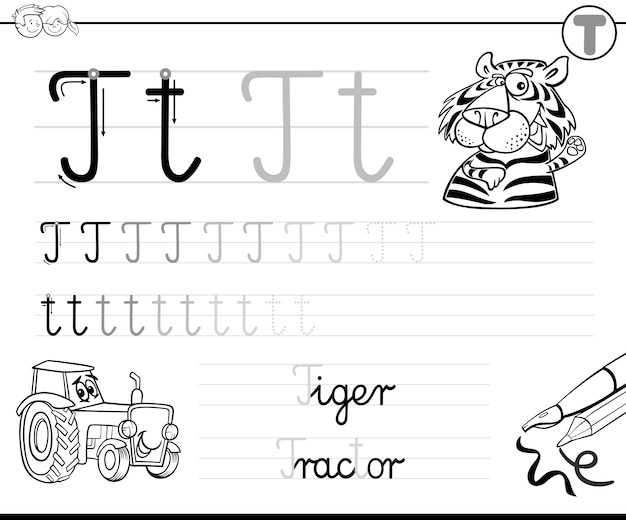Aprenda a escrever a letra t