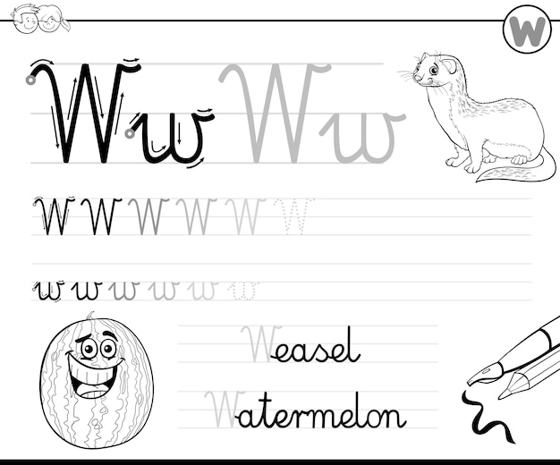 Aprenda a escrever a letra w