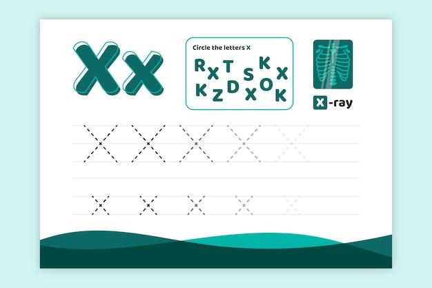 Aprenda a planilha letra x