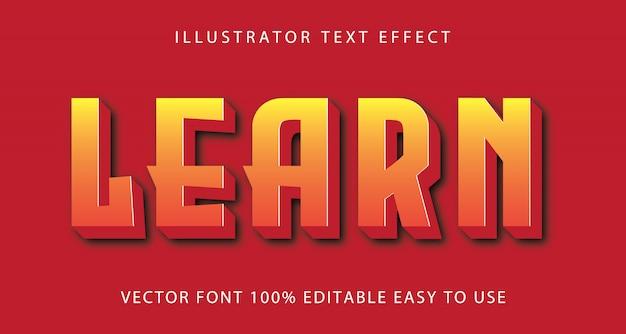 Aprenda efeito de texto editável em vetor