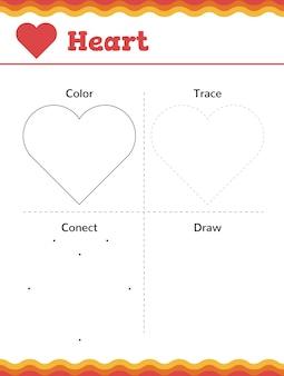 Aprenda formas e figuras geométricas. planilha de pré-escola ou jardim de infância. ilustração vetorial