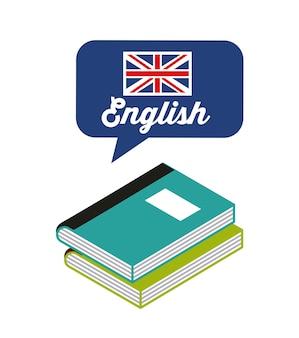 Aprenda ícone de estudo em inglês