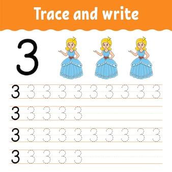 Aprenda o rastreamento de números e a prática da escrita à mão