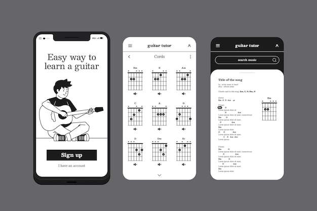 Aprenda um aplicativo de telefone móvel de instrumento