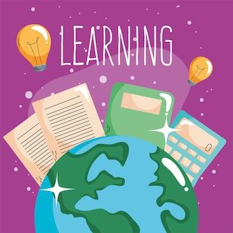 Aprendendo letras com o planeta terra