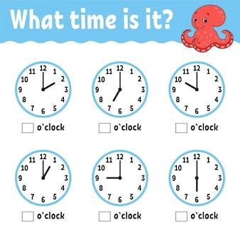 Aprendendo o tempo no relógio.