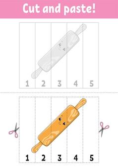 Aprendendo os números 15 cortar e colar