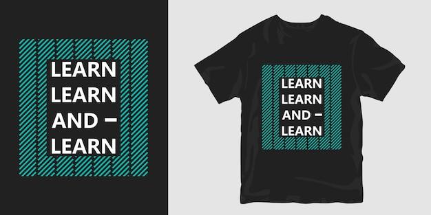 Aprender camiseta