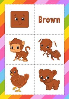 Aprender cores flashcard para crianças