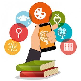 Aprendizado eletrônico com smartphone