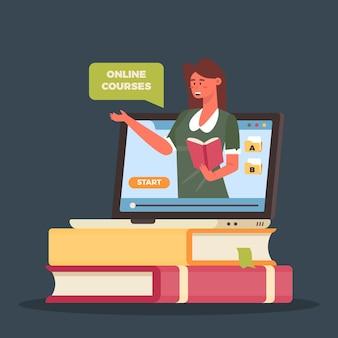 Aprendizado on-line com cursos