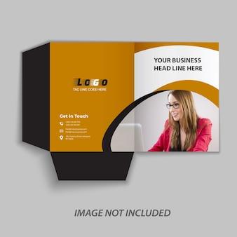 Apresentação bi fold brochure design