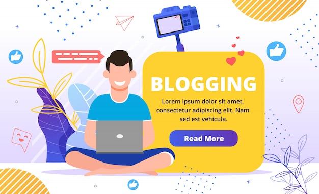 Apresentação comercial de marketing de conteúdo para blogs