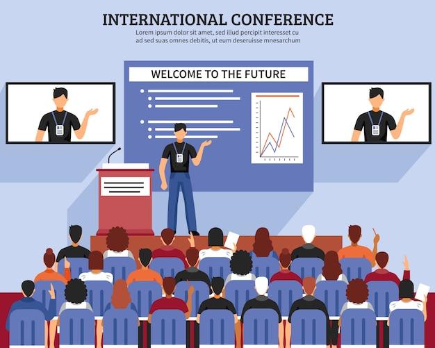Apresentação conference hall composition