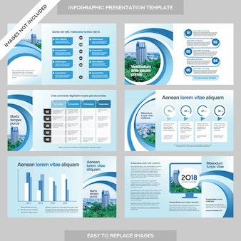 Apresentação da empresa business company com template infographics.