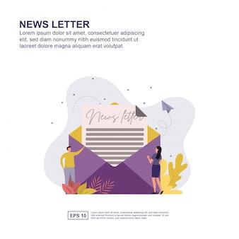 Apresentação de carta de notícias, promoção de mídia social, banner