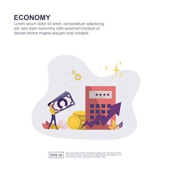 Apresentação de economia, promoção de mídia social, banner