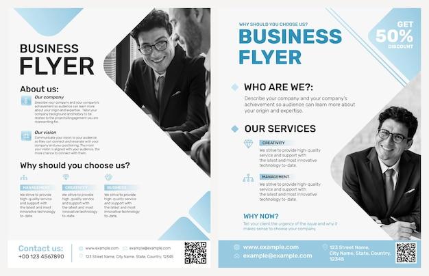 Apresentação de empresa de modelo de folheto editável de negócios
