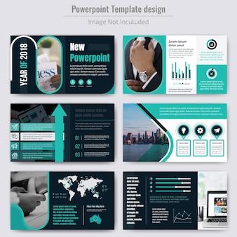 Apresentação de empresa de negócios com modelo de infográficos
