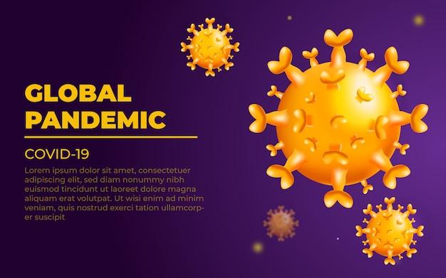 Apresentação de fundo abstrato vírus corona