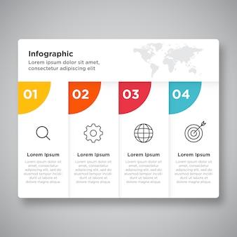 Apresentação de infográfico de negócios de processo