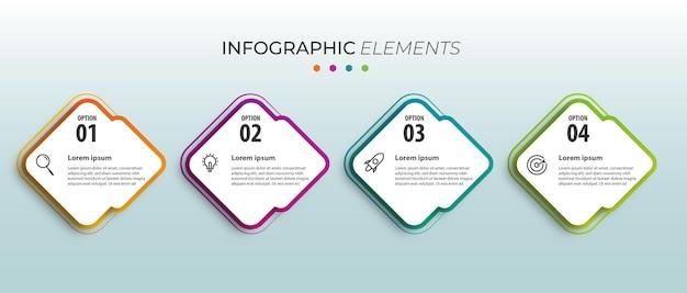 Apresentação de infográfico de negócios modernos