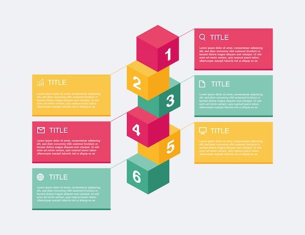 Apresentação de infográfico de negócios