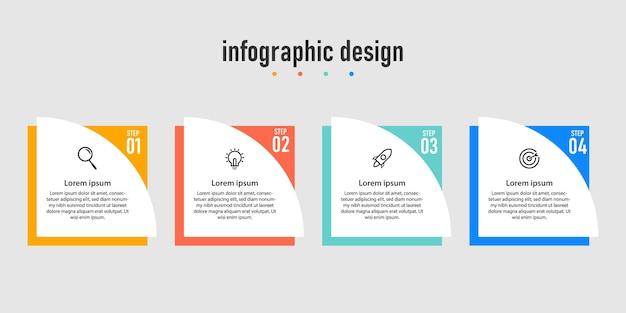 Apresentação de infográficos criativos de negócios