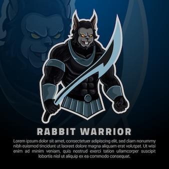 Apresentação de jogos de logotipo de coelho