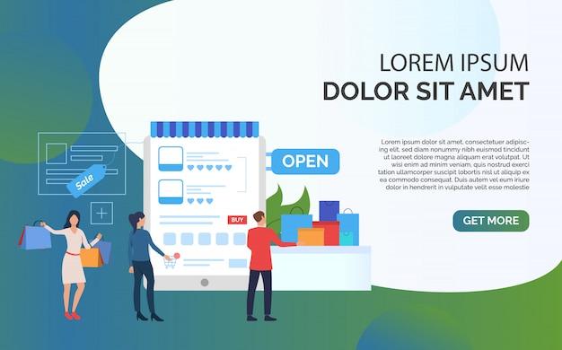 Apresentação de modelo de slide de venda