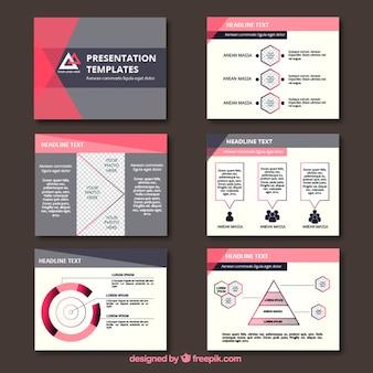 Apresentação de negócios com gráficos