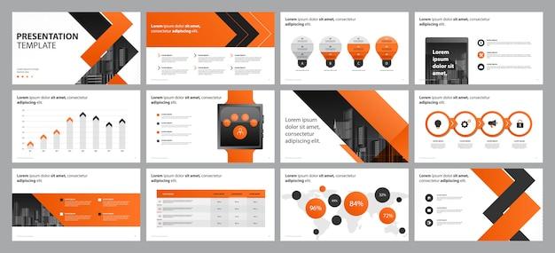 Apresentação de negócios laranja